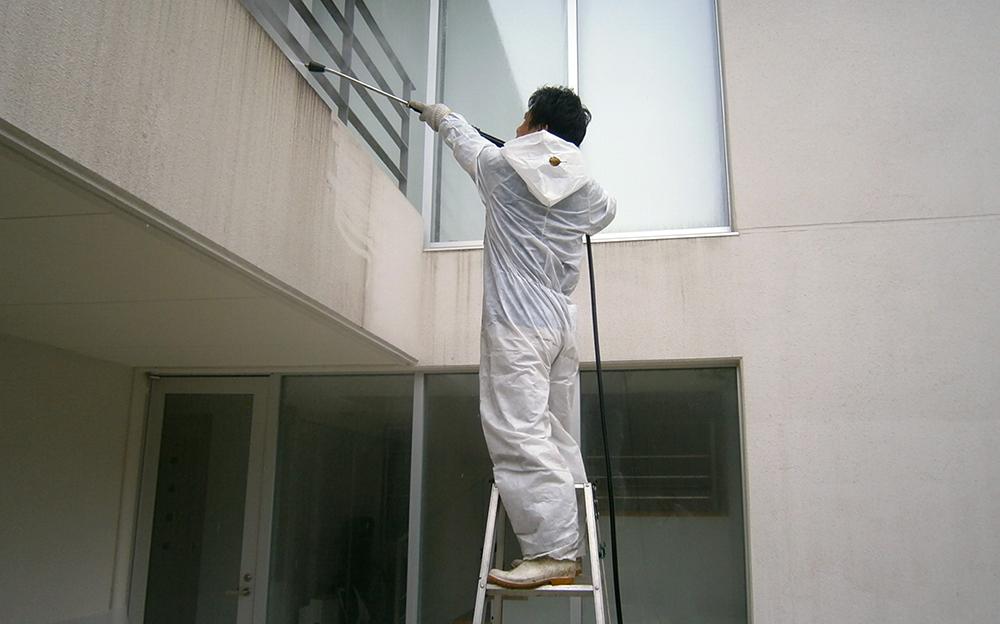 外壁タイル洗浄